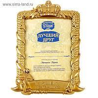 Диплом другу оптом в Казахстане Сравнить цены купить  Диплом в рамке Лучший друг