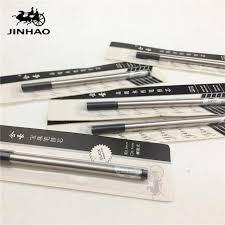reliable silver metal wall decor pcs lot jinhao screwed roller ball pen refills black blue nib mm whole