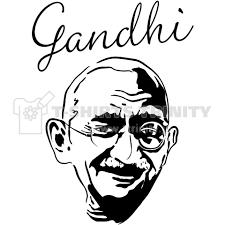 Gandhi ガンジーインド革命家線哲学イラストmusic音楽