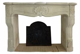 hand carved french limestone fireplace mantel