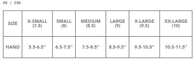 Dakine Glove Mens Size Chart Sturtevants