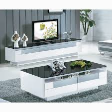 tv stand and coffee table set pack black finish horn coffee end table