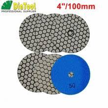 diatool 10pcs 100mm sponge diamond polishing pads for marble artificial stone