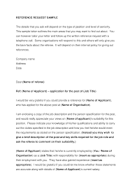 Reference Request Letter Job Reference Request Letter Templates At