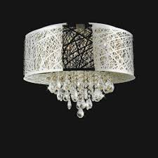 brizzo lighting s 39 web modern laser cut drum shade crystal