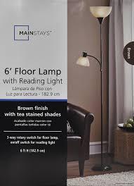 mainstays combo floor lamp brown