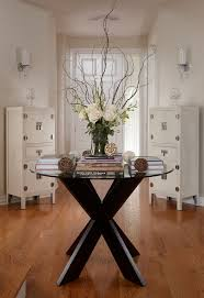 romantic round entryway table curly willow branches think table legs glass table shabby storages wooden flooring