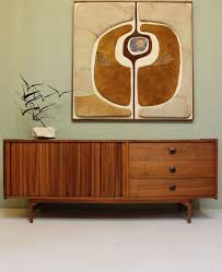 vintage 60s furniture. mid century modern credenza by john keal for brown saltman vintage walnut 1950s 60s furniture e