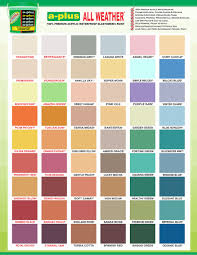 Weather Color Chart A Plus All Weather Paint