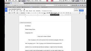 Mla Header Tutorial For Google Docs