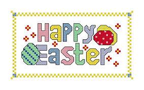 Cross Stitch Chart Generator Happy Easter Cross Stitch Chart Pattern Cross Stitch