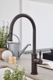 Davoli kitchen faucet in oil-rubbed bronze finish.