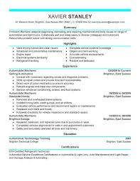 Examples Of Special Skills For Resume EyeGrabbing Mechanic Resumes Samples LiveCareer 57