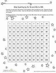 Counting By 25 Chart Hundreds Chart Skip Counting Worksheet Education Com