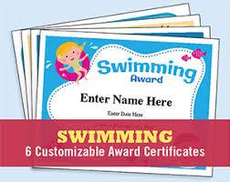 Swimming Certificates Templates Swim Awards Swimming Coach