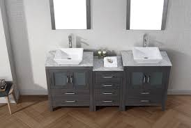 gray double sink vanity. virtu usa 66\ gray double sink vanity
