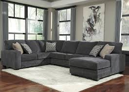 ashley furniture tracling 3 piece sectional with raf chaise in slate 7260017 34 66