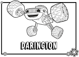 Blaze And The Monster Machines Coloring Pages At Getcoloringscom