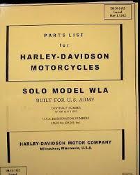 1942 parts list harley davidson