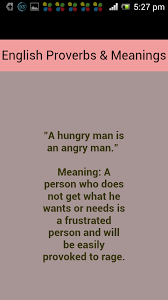 proverbs and meanings android apps on google play proverbs and meanings screenshot