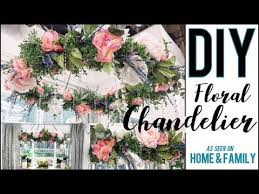diy how to make a gorgeous fl chandelier