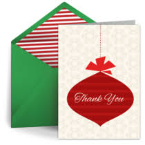 Christmas Thank You Cards Free Ecards Online Christmas