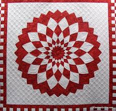 285 best RED AND WHITE QUILTS images on Pinterest | Quilt block ... & Red and White Giant Dahlia quilt by Janann, quilted by Linda at LR Designs  Quilting Adamdwight.com