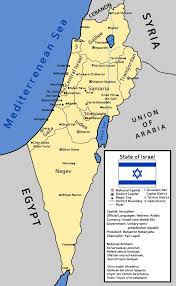 map of an alternate israel by ieph on deviantart