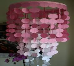 paper chandelier party decorations gold for