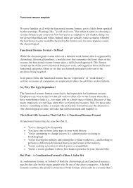 Cover Letter Sample Functional Resume Format Sample Of Functional
