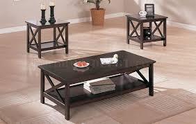 inspiring espresso coffee table and dark espresso finish contemporary 3 piece coffee table set