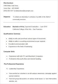 Sample Resume For College Student For College Students 3 Resume Templates Sample Resume Resume