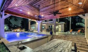 cool backyard ideas. Wonderful Ideas Covered Pool Cool Backyard Ideas With Kitchen Bar For N