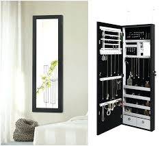 jewelry armoire wall mounted 24 inch wall mounted lighted jewelry armoire