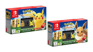 Image result for pokemon let's go eevee and pikachu bundle