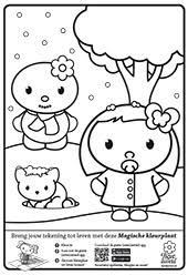 Kleurplaat Sneeuw Lieve Lieverdlieve Lieverd
