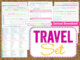 Instant Download Travel Printables Vacation Planner 14 Pdf