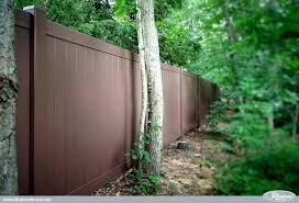 painted privacy fence backyard looking for brown vinyl illusions tongue and groove n15