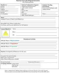 Teacher Curriculum Template Udl Pre Lesson Planning Template Lesson Plan Templates Co