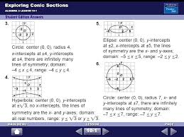 13 exploring conic sections
