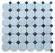 black octagon tile octagon tiles white octagon mosaic tile with black dots honed chip size octagon