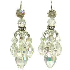 crystal chandelier uk vintage crystal chandelier value this is an image of the vintage 1960s aurora borealis crystal chandelier drop clip on earrings