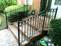 exterior wrought iron stair railings. Delighful Railings Image Of Popular Exterior Wrought Iron Stair Railings For W