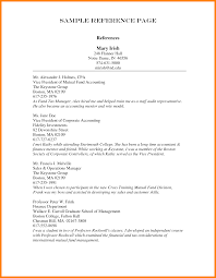 Sample Job Reference Template Resume Template