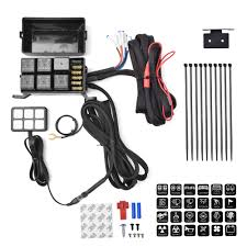 online car accessories switch panel for off road led lights Wiring Harness Diagram 6 switch panel relay control box wiring harness for vehicle with 12v dc power