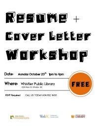 Resume Cover Letter Writing Workshop Whistler Oct 20 2014