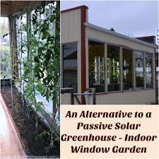 indoor window garden. an alternative to a passive solar greenhouse - indoor window garden l