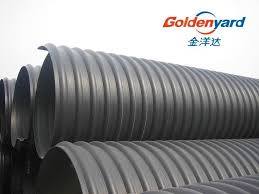 steel reinforced pe corrugated pipe