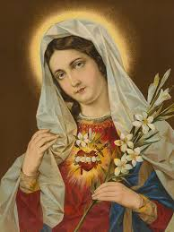 sacred heart painting sacred heart of the virgin mary by european school