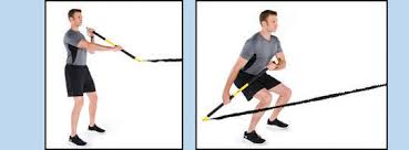 stance with the rip trainer pointed at the anchor squat down and bring the bar past the right leg in a paddling motion repeat for 30 seconds